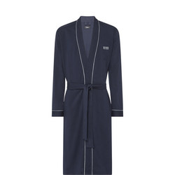 Embroidered Kimono Robe Blue