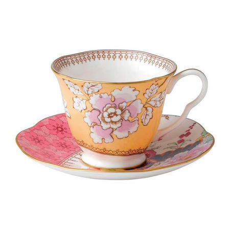 Butterfly Teacup And Saucer Yellow