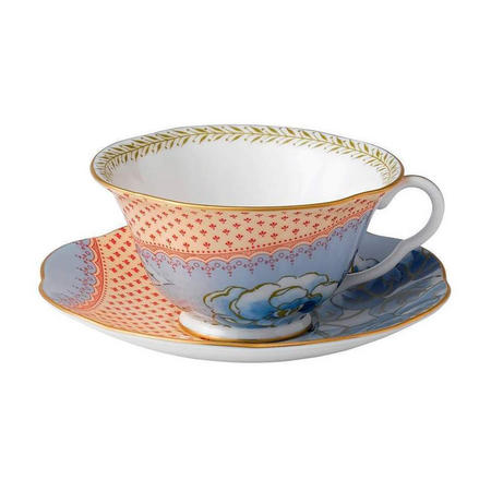 Butterfly Teacup And Saucer Blue