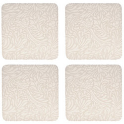 Monsoon Lucille Gold Coasters x 4 Gold