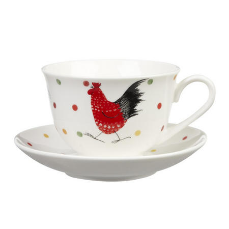 Alex Clarke Rooster Teacup & Saucer