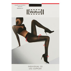 Individual 50 Leg Support Tights Black