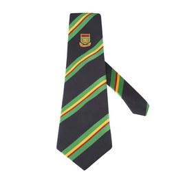 College Junior Tie Black