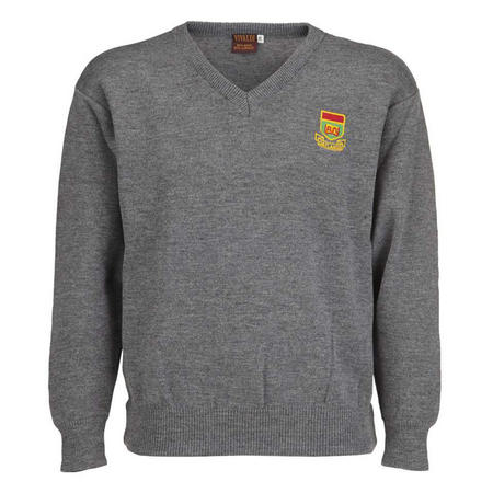 College Crested Jumper Grey