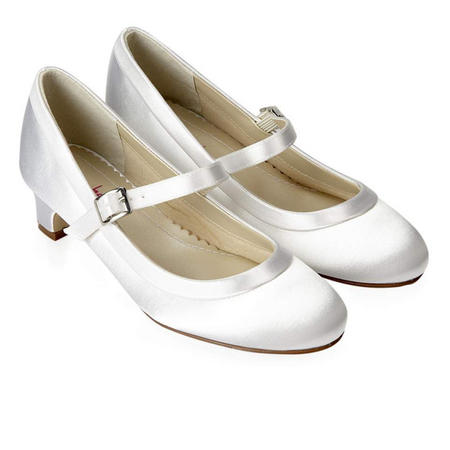 Maisie Satin Shoes White