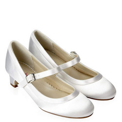 Maisie Satin Shoes White