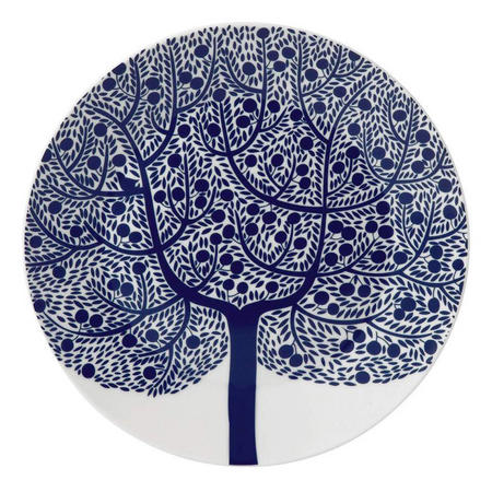 Fable 22cm Accent Plate Blue Tree