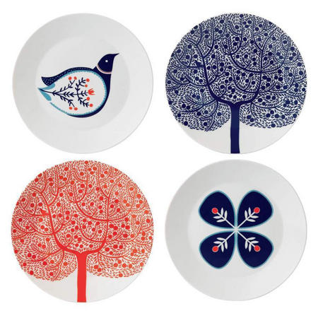 Fable Set of 4 22cm Accent Plates