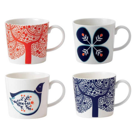 Fable Set of 4 Accent Mugs
