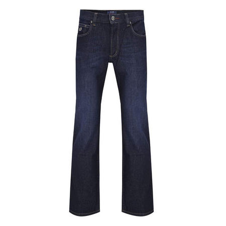 Straight Leg Jeans Dark Blue