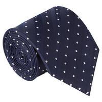 Dot Pattern Tie Navy