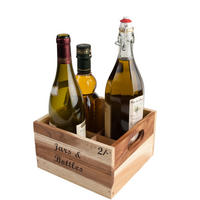 Baroque Bottle Crate Rustic Acacia