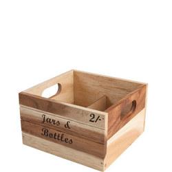 Baroque Bottle Crate Rustic Acacia