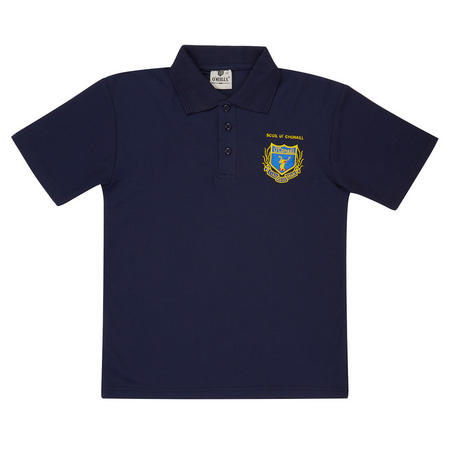 Crest Polo Shirt Navy