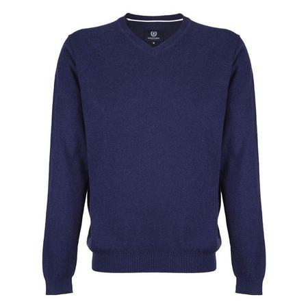 VNeck Wool Sweater Blue