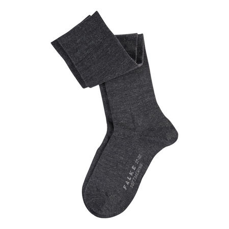 Soft Merino Knee High Socks Dark Grey