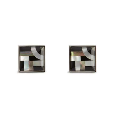 Bauhaus Lines Cufflink Black