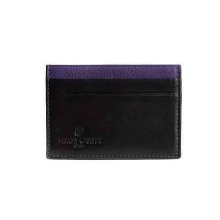 Colour Strip Creditcard Holder Purple