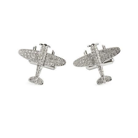 Jubilee Spitfire Cufflink Silver