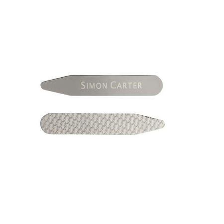 Etched Collar Stiffeners Silver