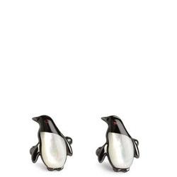 Darwin Penguin Cufflink Black