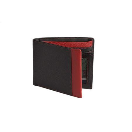 Colour Strip Jeans Wallet Red