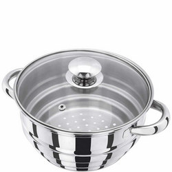 Multi Steamer With Lid Steel