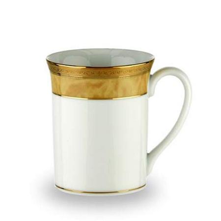 Gold Trim China Mug White