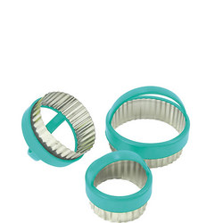 3 Piece Fluted Round Pastry Cutters