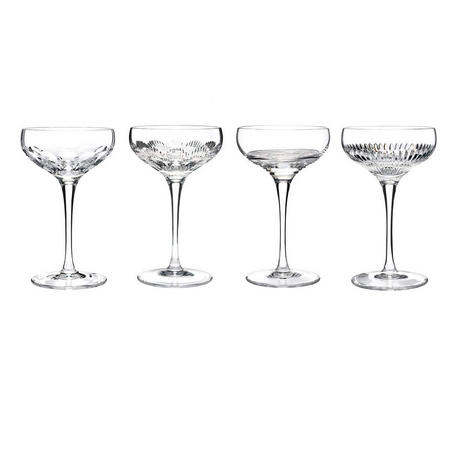 Mixology Clear Champagne Coupe Set Of 4