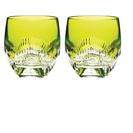 Mixology Neon Lime Green Tumbler Set of 2