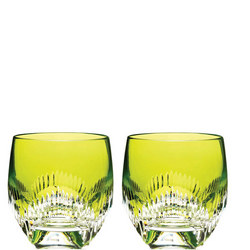 Mixology Neon Lime Green Tumbler Set of 2