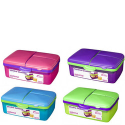 Lunchbox Slimline 4 Compartment Quaddie 1.5L