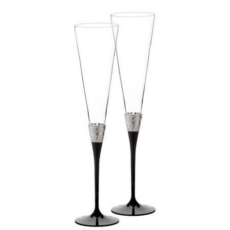 Vera Wang With Love Giftware  Flute Noir Pair
