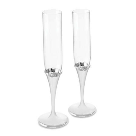 Wedgwood Vera Infinity Toasting Flute Set of 2