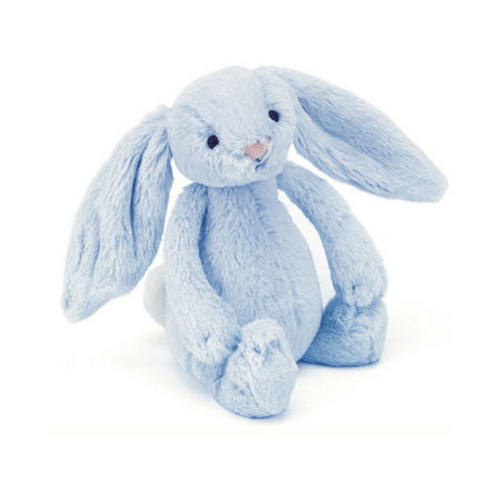Bashful Bunny Rattle Blue