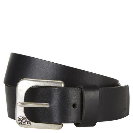 Zed Leather Belt Black