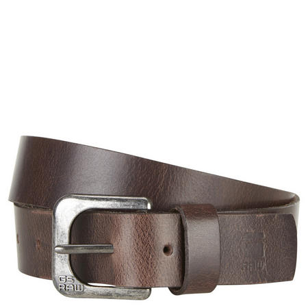 Zed Leather Belt Dark Brown