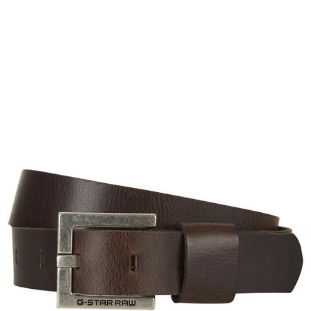 Duko Leather Belt Dark Brown