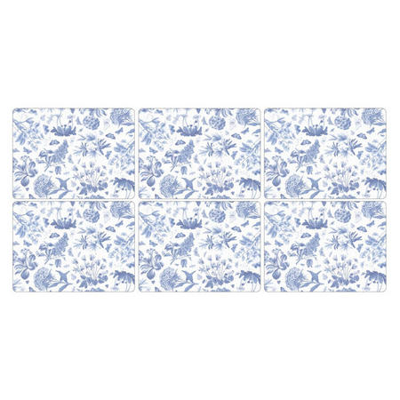 Pimpernel Set 6 Placemats Botanic Blue