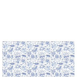 Pimpernel Set 6 Placemats Botanic Blue
