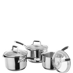 5000 3 Piece Saucepan Set Stainless Steel