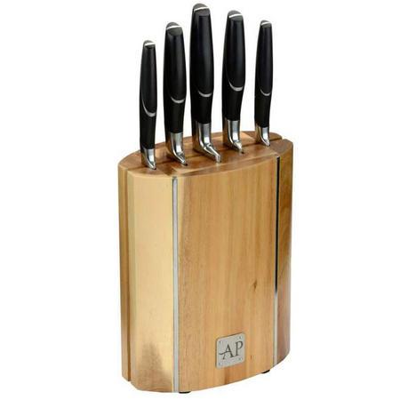 Oval Wooden Knife Block