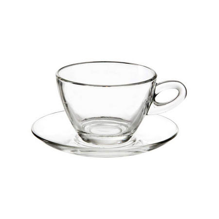Cappuccino Glass 300ml Set Of 2 Clear