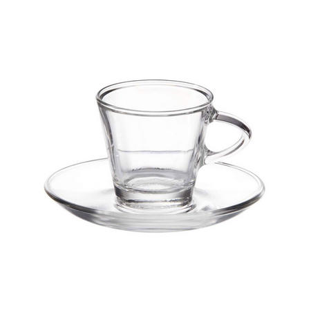 Espresso Cup & Saucer 80ml Set Of 2 Clear