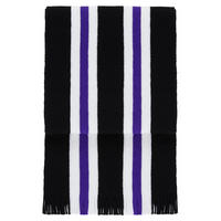 Stripe Knitted Scarf Black