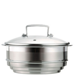 3 Ply Multi Steamer with Lid Stainless Steel
