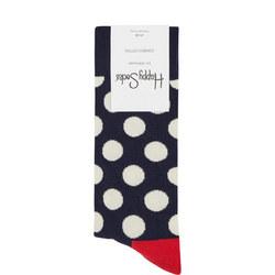 Big Dot Socks Mid Blue