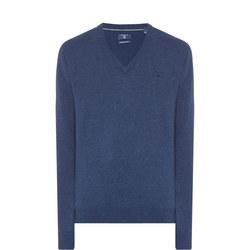 V-Neck Sweater Blue