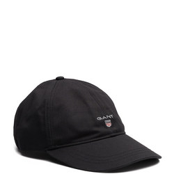 Cotton Twill Baseball Cap Black